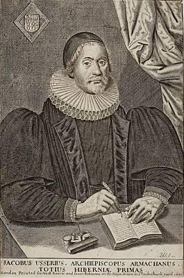 1650 Bishop Usher Portrait 4004bc Poster by Paul D Stewart