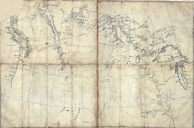 1803 Lewis And Clark Map Poster by Everett