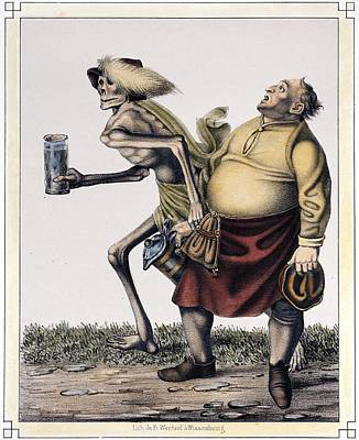 1830 Dance Of Death, Drink And Obesity Poster by Paul D Stewart