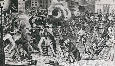1844 Riots In Greater Philadelphia Poster by Everett
