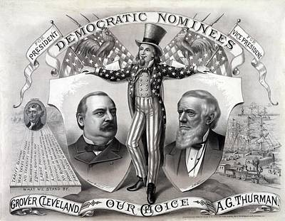 1888 Democratic Presidential Campaign Poster by Everett