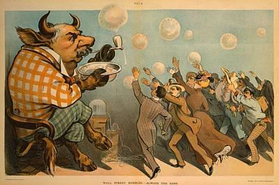 1901 Caricature Of John Pierpont Morgan Poster by Everett