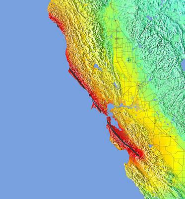 1906 San Francisco Quake Intensity Map Poster