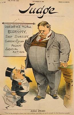 1909 Cartoon Criticizing To Tafts Poster by Everett