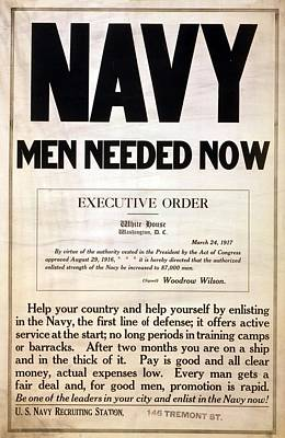 1917 Recruitment Poster For The Us Poster by Everett
