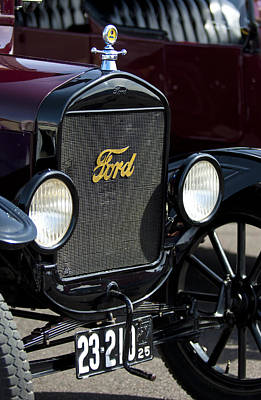 1925 Ford Model T Coupe Grille Poster by Jill Reger