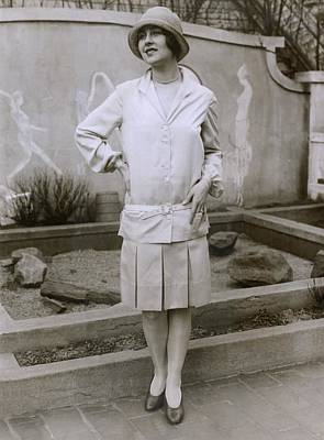1927 Suit With A Mid-knee Pleated Skirt Poster by Everett