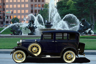1928 Model A Ford Sedan Poster by Tim McCullough