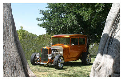 1929 Ford Butter Scorch Orange Poster by Jack Pumphrey
