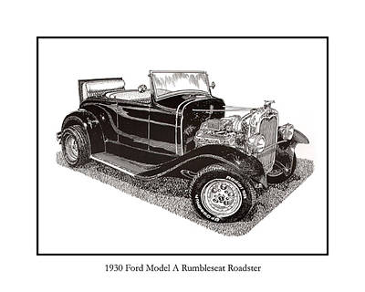 1930 Ford Model A Roadster Poster by Jack Pumphrey