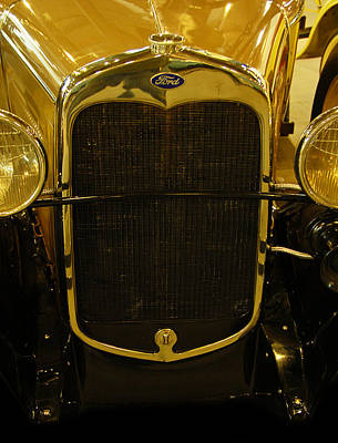 1930 Ford Model A Rumble Seat Roadster Grill Poster