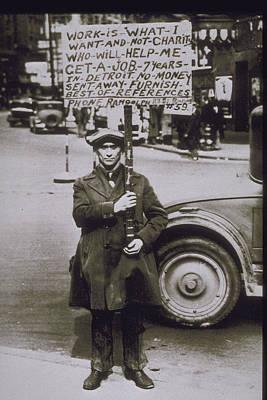 1930, Scene Of The Depression In Detroit Poster