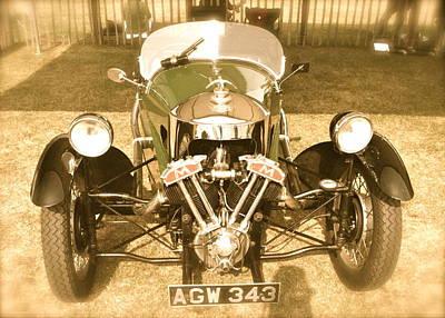 1930s Three Wheel Morgan Poster by John Colley