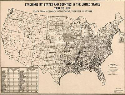1931 Map, Based On Statistical Research Poster by Everett