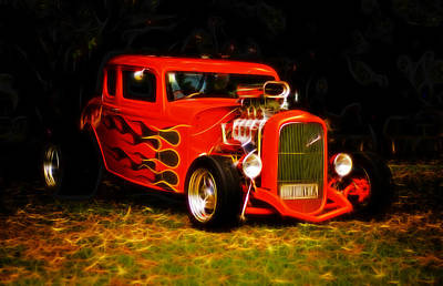 1932 Ford Coupe Hot Rod Poster by Phil 'motography' Clark