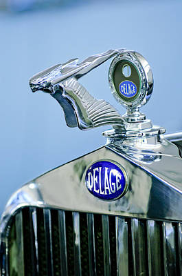 1933 Delage D8s Coupe Hood Ornament Poster