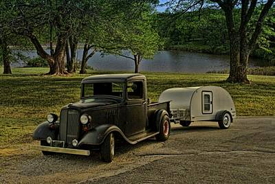 1934 Chevrolet Pickup Plus Camper Poster by Tim McCullough