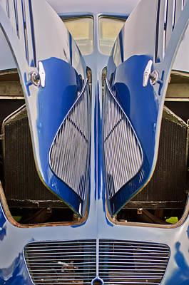 1935 Hoffman X-8 Sedan Rear View Poster by Jill Reger