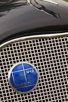1935 Lincoln K-541 Lebaron Coupe Emblem Poster
