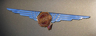 Poster featuring the photograph 1937 Chrysler Airflow Emblem by Gordon Dean II