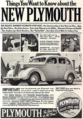 1937 Plymouth  Poster
