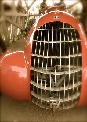 Poster featuring the photograph 1938 Alfa Romeo 308c Front Grill by John Colley