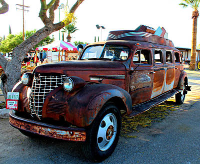 Poster featuring the photograph 1939 Chevy Sedan Limo by Jo Sheehan