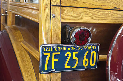 1939 Pontiac Silver Streak Deluxe Station Wagon Taillight Poster