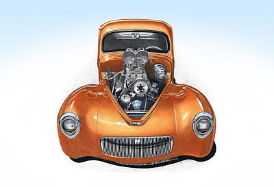 1941 Willys Hotrod Poster