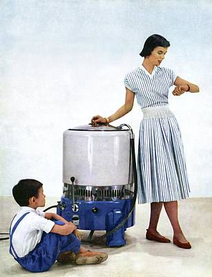 1950s Washing Machine Advert Poster by Cci Archives