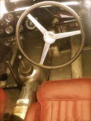 Poster featuring the photograph 1952 Aston Martin Db3 Cockpit by John Colley