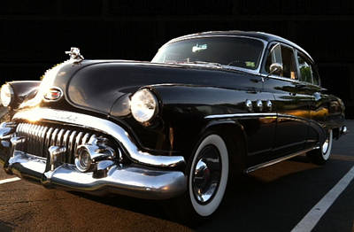 1952 Buick In Black Poster by Elizabeth Coats