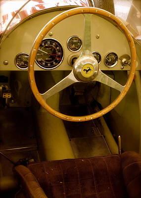 1952 Ferrari 500 625 Cockpit Poster by John Colley