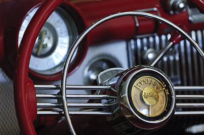 1953 Buick Skylark Convertible Steering Wheel Poster by Jill Reger