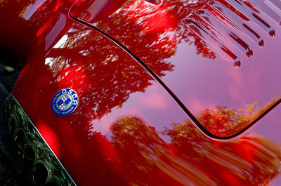 Poster featuring the photograph 1954 O.s.c.a. Mt4 Maserati Hood Emblem by Jill Reger