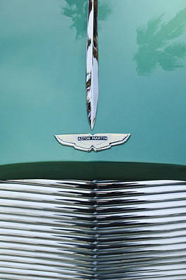 1955 Aston Martin Grille Emblem Poster by Jill Reger