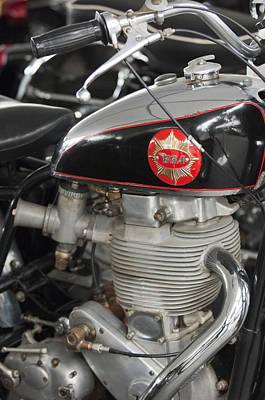 1956 Bsa Gold Star Tt Flat Track Racer Motorcycle Poster by Jill Reger