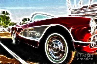 1956  Corvette Poster by Paul Ward
