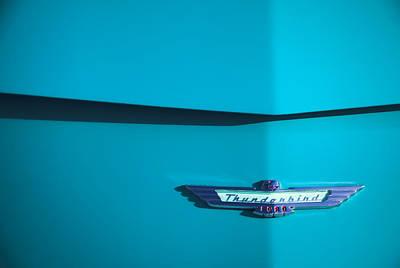 1956 Ford Thunderbird Poster by Carol Leigh