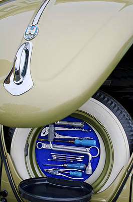 Poster featuring the photograph 1956 Volkswagen Vw Bug Tool Kit by Jill Reger