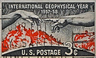 1957-1958 International Geophysical Year Stamp Poster