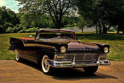 1957 Ford Fairlane 500 Convertible Poster