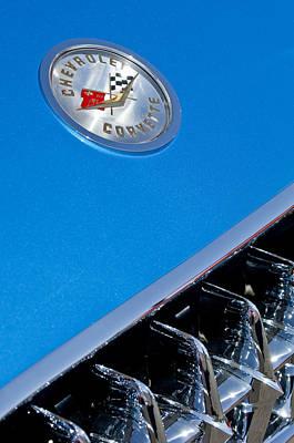 1958 Chevrolet Corvette Grille Emblem 2 Poster