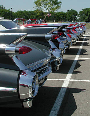 1959 Caddy Fins Poster
