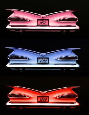 1959 Chevrolet Eyebrow Tail Lights Poster by Tim McCullough