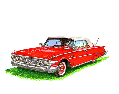 1960 Edsel Ranger Convertible Poster by Jack Pumphrey