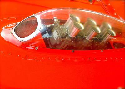 1960 Ferrari 246s Dino Hood Detail Poster by John Colley