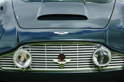 1963 Aston Martin Db4 Series V Vantage Gt Grille Poster by Jill Reger