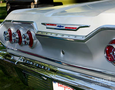 1963 Chevy Impala Taillights Poster by Peter Piatt