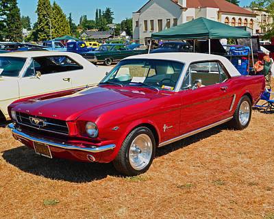 Poster featuring the photograph 1964 Ford Mustang by Tikvah's Hope